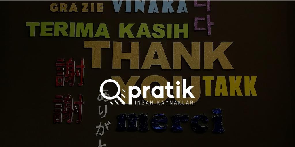 birçok dilde teşekkür